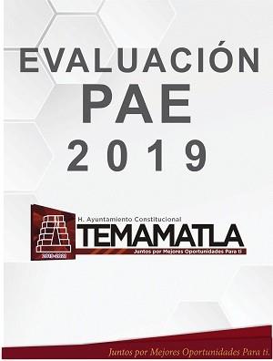 EVALUACION PAE 2019